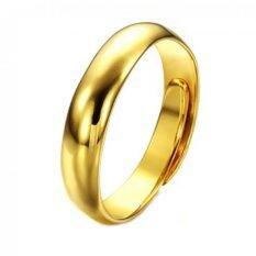 Tanittgems แหวนทองเกลี้ยงขัดเงาแบบปรับไซส์ได้ ถูก