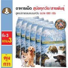 ความคิดเห็น Taste Of The Wild อาหารเม็ดสุนัข สูตรปลาแซลมอนรมควัน บำรุงขนและผิวหนัง สำหรับสุนัขทุกวัย ทุกสายพันธุ์ ขนาด 680 กรัม ซื้อ 3 แถม 3