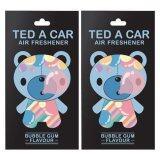 ขาย ซื้อ ออนไลน์ Ted A Car แผ่นหอมปรับอากาศ กลิ่นหมากฝรั่ง 2 ชิ้น