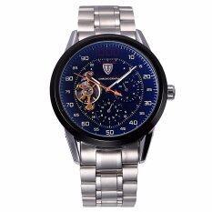 ขาย Tevise 8378 Automatic Mechanical Male Watch Tourbillon Stainless Steel Band Working Sub Dials Black Intl จีน ถูก