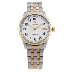 ราคา Tevise 8500 002 Male Automatic Mechanical Watch Calendar Luminous Double Scale Wristwatch Silver Thailand