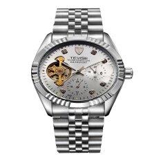 ซื้อ Tevise อัตโนมัตินาฬิกาผู้ชาย Tourbillon เพชรนาฬิกาส่องสว่างนาฬิกา Dropshipping ออนไลน์ จีน