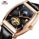 ราคา Tevise ไขลานอัตโนมัตินาฬิกาผู้ชายกลไกนาฬิกา Tourbillon ธุรกิจ Relogio Automatico Masculino นาฬิกาสแควร์ 8383D นานาชาติ จีน