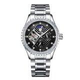 ราคา Tevise เชิงกลนาฬิกาผู้ชาย Tourbillon อัตโนมัตินาฬิกาดวงจันทร์เฟสส่องสว่างเพชรนาฬิกาข้อมือกลไกนาฬิกาสุดหรูชาย นานาชาติ ที่สุด