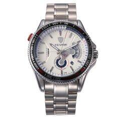 ราคา Tevise Men S Multifunctional Sport Watch Full Automatic Mechanical Watches Stainless Steel Wristwatch White Tevise ออนไลน์