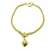 ขาย Tfine สร้อยข้อมือ7นิ้วโอ่งตัดลายห้อยหัวใจชุบทองไมครอน ถูก ใน กรุงเทพมหานคร