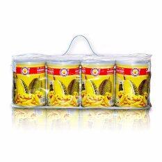 Thai Ao Chi ทุเรียนอบกรอบ Durian Vacuum Freeze Dried Can Set A 200 Gm Pack 4 กระป๋อง ใหม่ล่าสุด