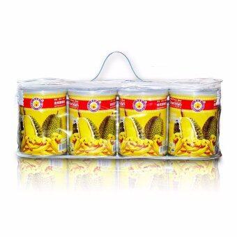 Thai Ao Chi ทุเรียนอบกรอบ Durian Vacuum Freeze Dried Can-Set (A) 200 gm/pack (4 กระป๋อง)