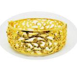 Thai Jewelry กำไลข้อมือทอง ลายดอกไม้ งานทองชุบไมครอน ชุบเศษทองคำแท้ 96 5 หนัก 3 บาท กรุงเทพมหานคร