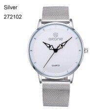 Thin Dial Gold Watches Women Fashion Dress Steel Mesh Band Wrist Man Watch Lady Hour clocks