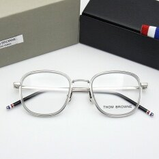 Thom Browne Men And Women Of Fashion Tb906A Glasses Frame Wholesale Ultra Light Flat Mirror Frame Mirror Myopia Glasses Frame Intl เป็นต้นฉบับ