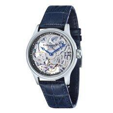 ขาย Thomas Earnshaw Bauer Es 8049 06 Men S Blue Genuine Leather Strap Watch ผู้ค้าส่ง