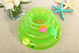 ทบทวน Three Tower Tracks Turntable Ball Pet Cat Toy Green Intl