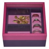 ราคา Tidy Gift กล่องเก็บเครื่องประดับ กล่องใส่เครื่องประดับ Jewelry Box Jb105A Dark Pink Mauve 6827 ใหม่