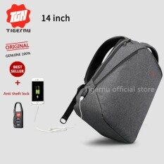 Tigernu Classic Light Weight Backpack For 12 14Inches Laptop With External Usb Charging Port3164 Black Grey Intl เป็นต้นฉบับ