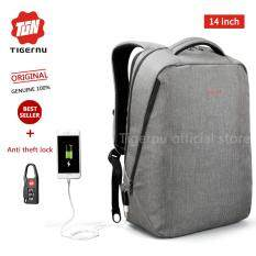 Tigernu Classic Light Weight Backpack For 12 14Inches Laptop With External Usb Charging Port3164 Grey Intl จีน