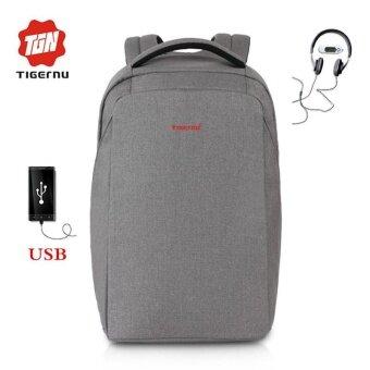 Tigernu ภายนอกชาร์จ USB กระเป๋าเป้สะพายหลังแล็ปท็อปป้องกันการโจรกรรม 15.6inch ผู้หญิงผู้ชาย Splashproof BAG