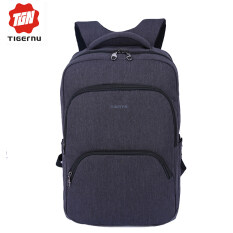 ขาย Tigernu Waterproof Anti Theft Four Tooth Zipper 17 Inches Business Causal Laptop Backpack Fit For 12 1 17 Laptop3189 Black Grey ผู้ค้าส่ง