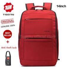 ซื้อ Tigernu Waterproof Nylon Backpack For 10 1 14 1 Laptop T B3152 Red Intl Tigernu ถูก