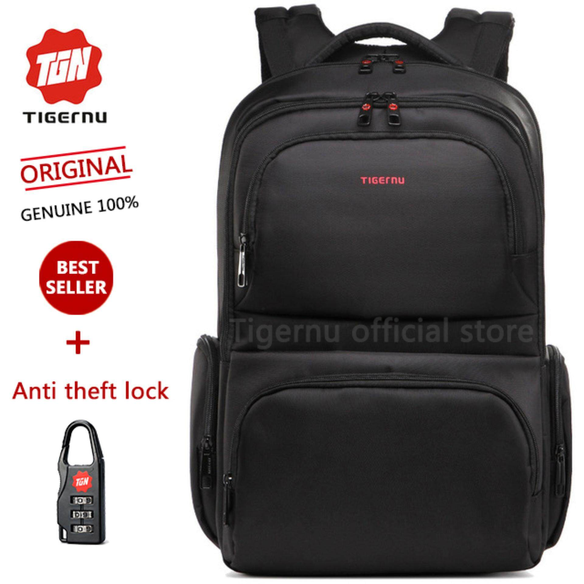 "Tigernu Waterproof Nylon Multi-functional Travel Business Casual Backpack for 12.1-15.6"" Laptop T-B3140(Black)"