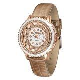ซื้อ Time100 Fashion Bright Diamond Dial Genuine Leather Women Quartz Watch W50278L 04A Time100