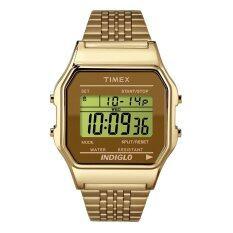 ราคา Timex Classic Digital Goldtone นาฬิกาข้อมือ สีทอง สายสแตนเลส Timex เป็นต้นฉบับ