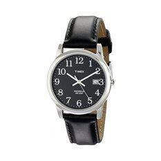โปรโมชั่น Timex นาฬิกาข้อมือผู้ชาย รุ่น Easy Reader Date Leather Strap Watch T2N370 สีดำ Timex