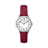 ขาย Timex นาฬิกาข้อมือผู้หญิง รุ่น Easy Reader Red Leather Strap Watch T2N952 สีแดง Timex เป็นต้นฉบับ
