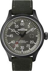 ซื้อ Timex นาฬิกาข้อมือผู้ชาย สีดำ สายหนังสีดำ รุ่น T49877 ใน Thailand