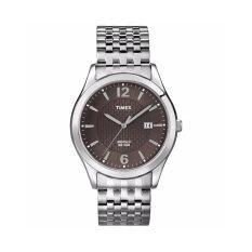 ราคา Timex นาฬิกาข้อมือผู้ชาย รุ่น T2N848 Mens Chrome With Bronze Dial สีเงิน
