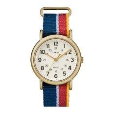 ขาย ซื้อ ออนไลน์ Timex นาฬิกาข้อมือผู้ชาย รุ่น Tw2R10100 Weekender Multi Colored Striped Denim