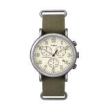 ราคา Timex นาฬิกาข้อมือ รุ่น Weekender Chrono Oversized Strap Tw2P85500 สีเขียว ที่สุด