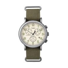 โปรโมชั่น Timex นาฬิกาข้อมือ รุ่น Weekender Chrono Oversized Strap Tw2P85500 สีเขียว ใน Thailand