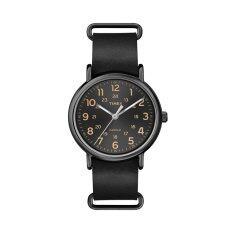 ทบทวน Timex นาฬิกาข้อมือ รุ่น Weekender With Black Leather Band T2P494 สีดำ Timex