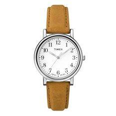 ราคา Timex Women Original Classic นาฬิกาข้อมือผู้หญิง สีน้ำตาล เงิน สายหนัง Timex ไทย
