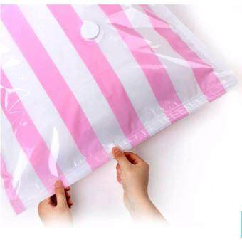 TIPS2KEEP ถุงสูญญากาศ ใช้เก็บเสื้อผ้า/ผ้าห่ม/เครื่องนอน ขนาด 70*100 cm X 2 ถุง / แพ็ค ลายทาง (Vacumn Compressed BagX2/pack)