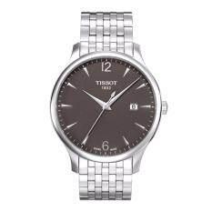 ซื้อ Tissot นาฬิกาข้อมือชาย T063 610 11 067 00 Silver Tone Stainless Steel Anthracite Dial Watch ใหม่