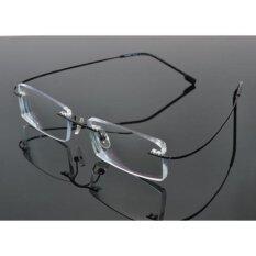 โปรโมชั่น ไทเทเนียมอัลลอยด์ที่ไร้ตำหนิสำหรับที่ไม่มีขอบแว่นตาสำหรับอ่านหนังสือไฟ Uv400 เลนส์ป้องกันความเมื่อยล้า 1 50 ถูก