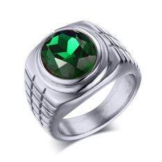 ขาย Titanium Steel Green Rhineston Steel Color Ring For Men Great For Gifts Unbranded Generic เป็นต้นฉบับ