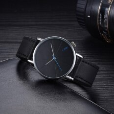 ขาย Tomi Fashion Casual Men S Bussines Retro Design Leather Round Band Watch Intl ราคาถูกที่สุด