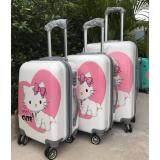 ขาย Tonkoon Shop กระเป๋าเดินทางล้อลาก ลาย 100 Cute สีชมพู ขนาด 18 นิ้ว ถูก