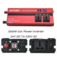 Tools Equipment 2000W Car Power Inverter Converter Dc 24V To Ac 220V 4 Usb Ports Led Charger Intl ใน จีน