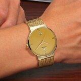 ทบทวน Top Brand Luxury Men S Watch 50M Waterproof Date Clock Male Sports Watches Men Quartz Casual Wrist Watch Gold Intl
