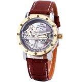 ราคา สุดหรูขายสะพานทองนาฬิกาผู้ชายนาฬิกาข้อมือโครงกระดูก Self Wind เชิงกลนาฬิกาข้อมือนาฬิกาข้อมือชุดสายสแตนเลสธุรกิจสไตล์ 25 ถูก