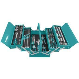 Total ชุดเครื่องมือช่าง 59 ชิ้น พร้อมกล่องเหล็ก รุ่น THTCS12591 ( Tools Set )-