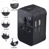 โปรโมชั่น Travel Adapter Universal All In One Worldwide Travel Plug Adapter Wall Charger Ac Power Adaptor Charger With Dual Usb Charging Ports For Usa Eu Uk Aus Plug Adapter Intl ถูก