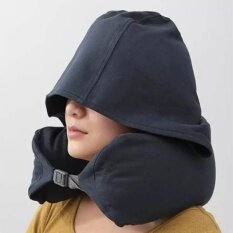 Travel Hooded Neck Pillow U Shaped Neck Support For Car And Airplane Intl เป็นต้นฉบับ