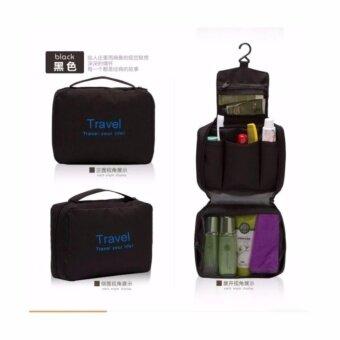 Traveler - Travelกระเป๋าอเนกประสงค์เดินทาง ใส่อุปกรณ์อาบน้ำ เครื่องสำอาง แบบพกพา สีดำ