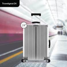 ราคา Travelgear24 กระเป๋าเดินทางขนาด 24 นิ้ว โครงอลูมิเนียม อลูมิเนียม วัสดุ Abs Pc Model A2903 Silver สีเงิน Travelgear24 เป็นต้นฉบับ