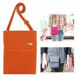 ขาย Travelgear24 กระเป๋าใส่หนังสือเดินทาง กระเป๋าพาสปอร์ตพร้อมสายสะพาย Travel Visa Passport Bag Orange สีส้ม ถูก ใน กรุงเทพมหานคร